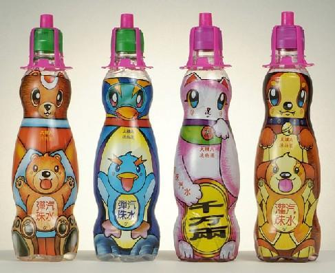 Marble Soda-Original Flavor (Ice Cream) with Animal Drawings in Plastic Bottle